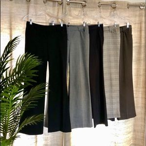 SIX pairs of Express Editor trousers